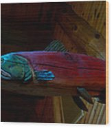 The Wooden Rainbow Trout Wood Print