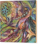 The World Of Lilies ...... The Original Can Be Purchased Directly From Www.elenakotliarker.com Wood Print by Elena Kotliarker