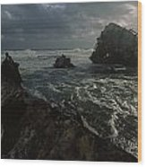 The Wreck Of The Thomas T. Tucker Wood Print by James L. Stanfield
