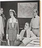 The Yelllow Typhoon, 1920 Wood Print