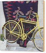 The Yellow Bicycle Wood Print