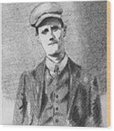 The Young James Joyce Wood Print