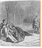 Theater: Duel, 1860 Wood Print