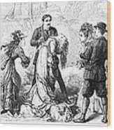 Theater: False Shame, 1872 Wood Print