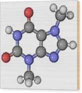 Theobromine Molecule Wood Print