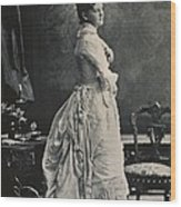 Theodore Roosevelts First Wife Alice Wood Print