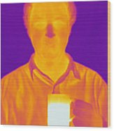 Thermogram Of A Man Wood Print