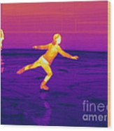 Thermogram Of A Skater Wood Print