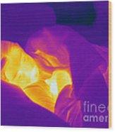 Thermogram Of A Sleeping Girl Wood Print
