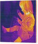 Thermogram Of A Young Girl Wood Print
