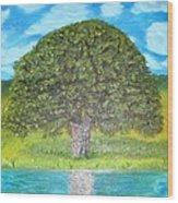 Thinking Tree Wood Print