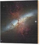 This Galaxy Is Called The Cigar Galaxy Wood Print