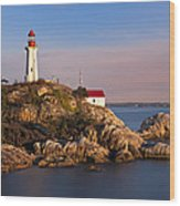 This Is British Columbia No.62 - Point Atkinson Lighthouse Point Wood Print