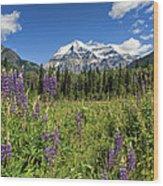 This Is British Columbia No.70 - Summer At Mount Robson Wood Print