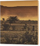 This Is Namibia No. 12 - Walking The Desert Wood Print