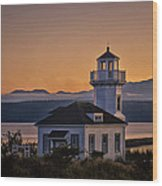 This Is Washington State No. 11 - Port Townsend Light House Wood Print