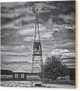 This Is Washington State No. 12 - The American Windmill Wood Print by Paul W Sharpe Aka Wizard of Wonders