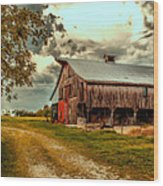 This Old Barn Wood Print by Bill Tiepelman