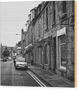 Thistle Street Rows Of Granite Houses And Shops Aberdeen Scotland Uk Wood Print by Joe Fox