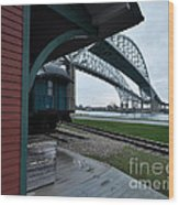 Thomas Edison Depot And Blue Water Bridges 2012 Wood Print
