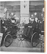 Thomas Edison In Quadricycle Wood Print