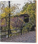 Thomas Mill Covered Bridge Over The Wissahickon Wood Print