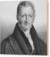 Thomas Robert Malthus Wood Print
