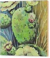 Those Bloomin' Cactus Wood Print