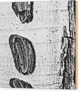 Three Bites Wood Print