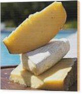 Three Cheeses Wood Print