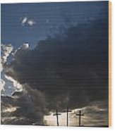 Three Crosses, West Yorkshire, England Wood Print
