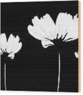 Three Feeling White Wood Print