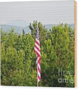 Three Flags And Kennesaw Mountain Wood Print