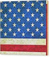 Three Flags Wood Print