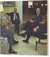 Three Former Presidents Gerald Ford Wood Print by Everett
