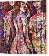 Three Graces Wood Print