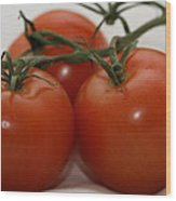 Three  Little Tomatoes Wood Print