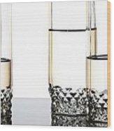 Three Luxury Glasses Wood Print