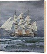 Three Masted Ship Wood Print