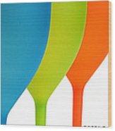 Three Of Cups Wood Print