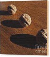 Three Walnuts Photograph Wood Print