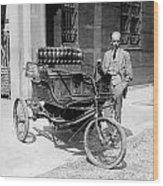 Three-wheel Automobile Wood Print