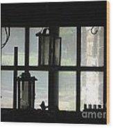 Through A Cabin Window Wood Print
