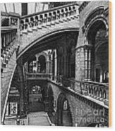 Through The Arches Wood Print