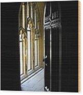 Thru The Chapel Door Wood Print