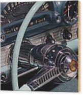 Thunderbird Steering Wheel Wood Print
