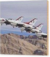 Thunderbirds Gear Up Wood Print