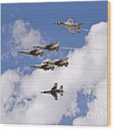 Thunderbirds Solos Break Wood Print