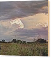 Thunderclouds Wood Print