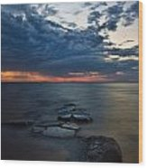 Thunderclouds On The Bay Wood Print